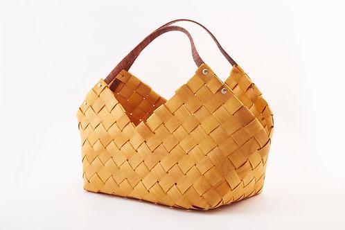 Rattan Storage Basket Large With Triangular Handles