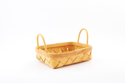 Rattan Storage Basket Wide Small With Side Handles