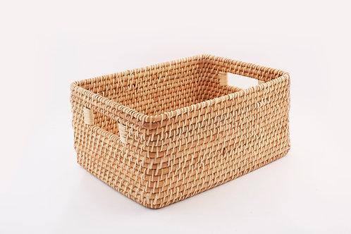 Rattan Rectangular Basket Small