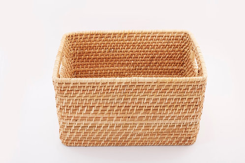 Rattan Rectangular Basket Large