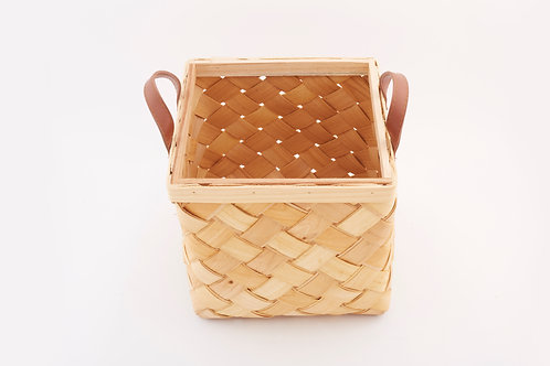 Rattan Storage Basket Cubical Small