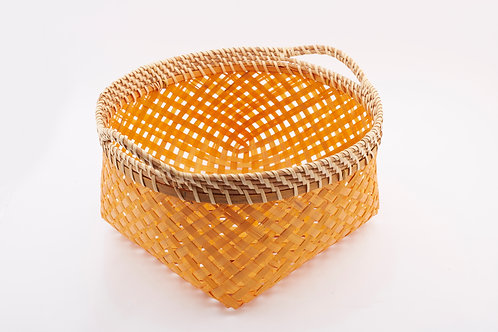Bamboo Rectangle Basket With Round Mouth Large