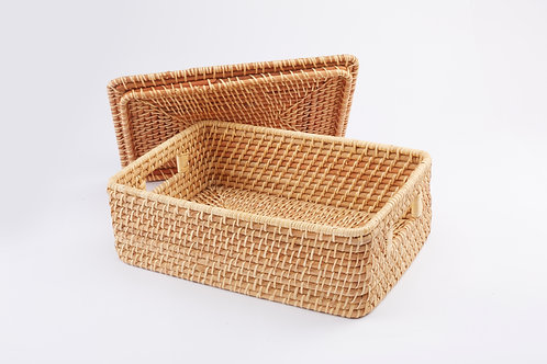 Rattan Rectangular Box