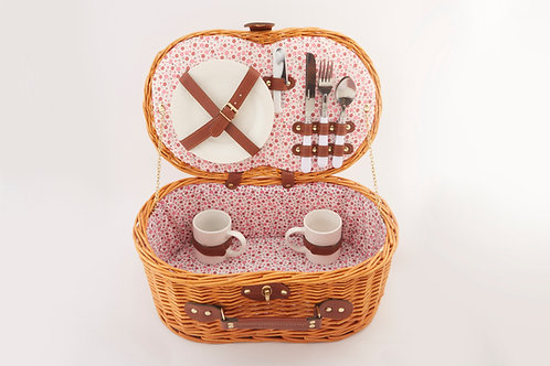 Full Willow Picnic Basket For 2