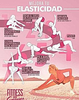 Tabla de ejercicios para aumentar la ela