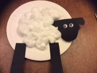 Make a sheep for the Shepherds to look after
