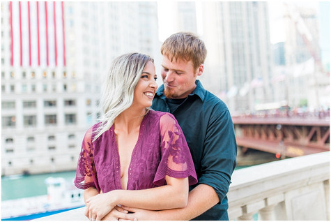 Andrea & Cole - Downtown Chicago - Couples Session