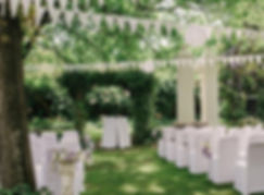 garden wedding winelands Muldersvlei Estate