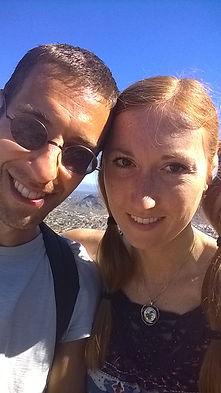 Anthony Vallone and Sara Stepnicka on top of North Mountain, Phoenix, Arizona.