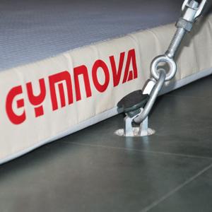 GYMNOVA - Ancrage escamotable sans scellement - lot de 8