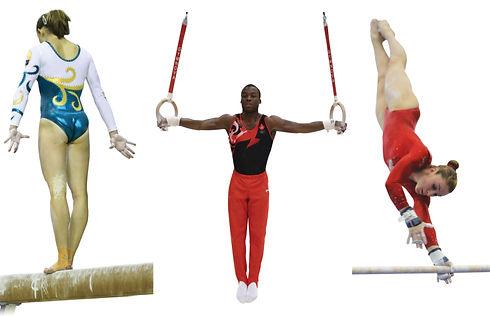 Gymnastes en action