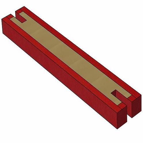 GYMNOVA - Tapis central spécifique pour barre fixe - 3m x 50cm x 20cm