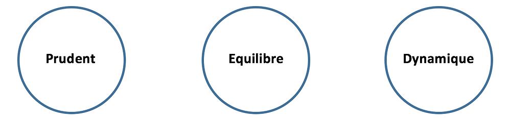 trois différents types de profils investisseur prudent équilibre et dynamique