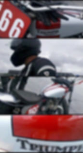 Vapour Blasted Triumph Motorcycle