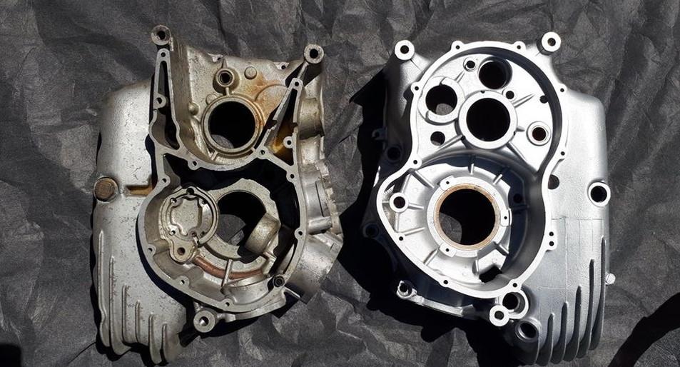 Vapour Blasted Engine Part