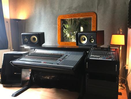 Recording the first 3 Songs - Rosenquarz Tonstudio