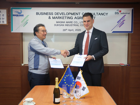 LEADING THE MARITIME BUSINESS DEVELOPMENT EVOLUTION : DUKSAN INDUSTRIAL & MAGNA MARE JOIN FORCES