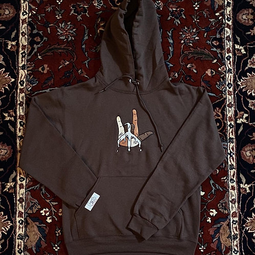 iLOVEyou embroidered hoodie