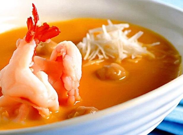 Суп крем из морепродуктов