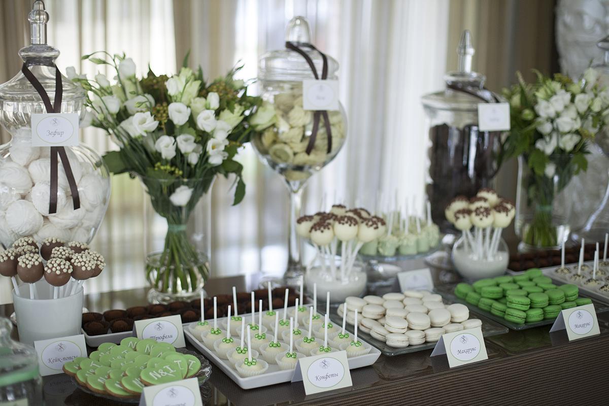 Candy bar (украшение свежие цветы)