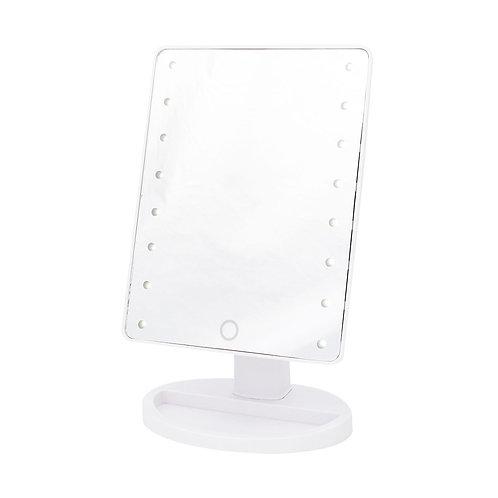 Зеркало дорожное с LED подсветкой - сенсорное. Арт. D1022w