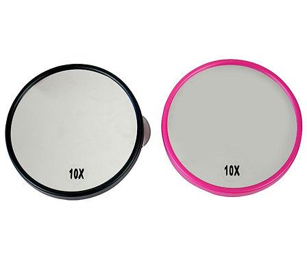 Зеркало на липучке 13 см х 10 увеличение. 3 цвета. Арт. D9414