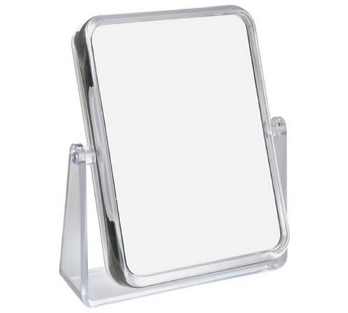 Зеркало прямоугольное 14 х 19 см х 7 увелич.- акрил. Арт. D209