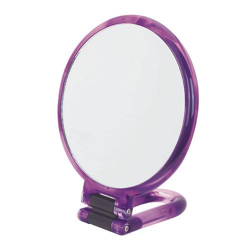 Зеркало ручное 14 см х 10 увеличение. Четыре цвета. Арт. D1067