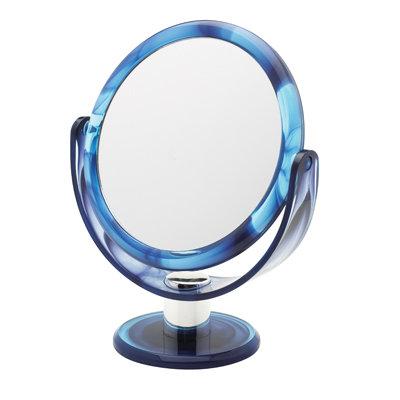 Зеркало 17 см х 10 увеличение на подставке. Разные цвета. Арт. D1068