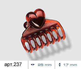Набор заколок Heart 6 шт. | Classic collection. Арт. 237