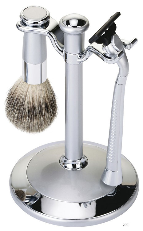 Набор для бритья (3 предмета). Серебро/хром