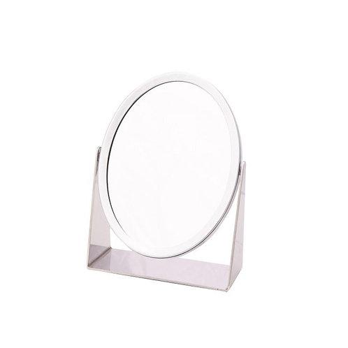 Зеркало овал 21,5 х 16,5 см х 5 увеличение - хром. Арт. D816