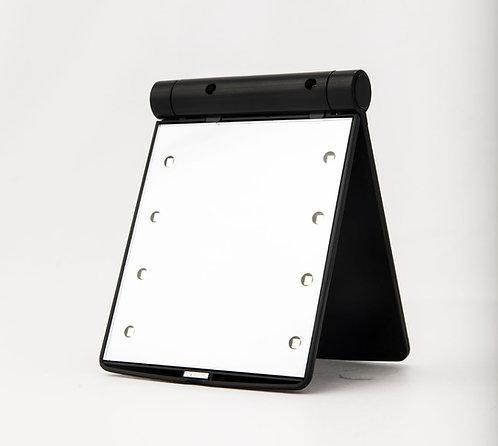 Зеркало дорожное с LED подсветкой 11 х 8,5 см х 2 увеличение. Арт. D1025B
