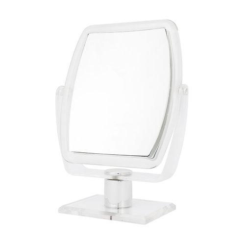 Зеркало прямоугольное 14 х 19 см х 7 увеличение. 2 цвета. Арт. D2008