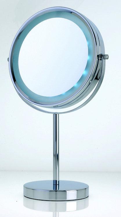 Зеркало 19 см х 5увеличение с LED подсветкой (на батарейках). Арт. D126