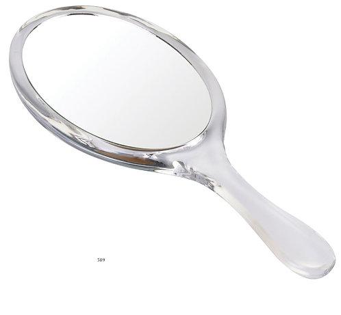 Зеркало овальное ручное 16 х 10 см х 3 увеличение. Акрил. Арт. 589