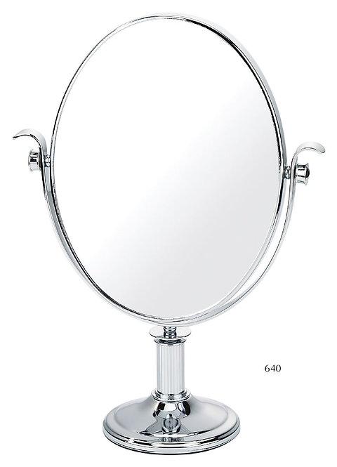 Зеркало овал 24 х 19см х 5увелич.на подставке - хром. Арт.640