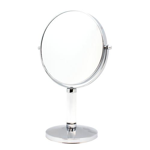 Зеркало 19 см х 7 увеличение на подставке - хром. Арт. D905