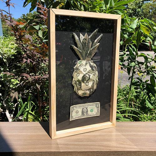 Pineapple $1 Framed Print
