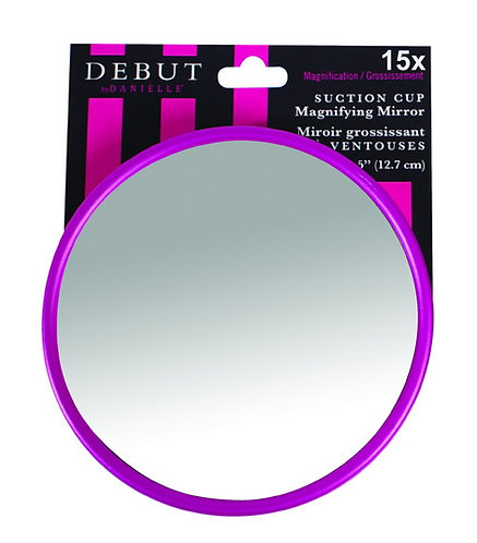 Зеркало на липучке 13 см х 15 увеличение. 2 цвета. Арт. D3712