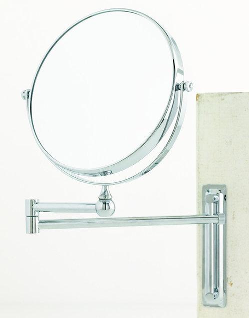 Зеркало настенного крепления 20 см х 10 увеличение - хром. Арт. D3759.
