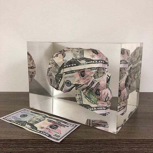 $50 Floating Money Skull