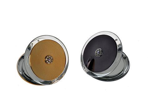 Зеркало компактное 8,5 см х 5 увеличение с кристаллами Swarovski. Арт. 719
