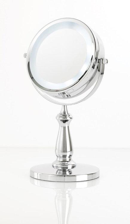 Зеркало 15см х 5 увелич. с подсветкой ( на батарейках). Арт. D128