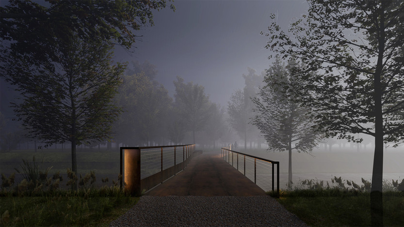 Oct. 2020, Construction of two bridges for park entrance in Jinshan, Shanghai has started