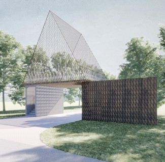 Sep. 2020, Construction of the Gate for park entrance in Jinshan, Shanghai has started