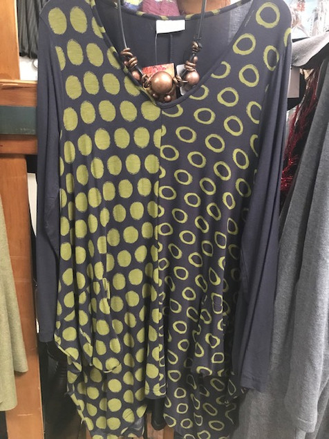 Artistic tunics from Komil, in-store!