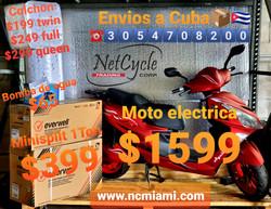 Envio de motos a Cuba