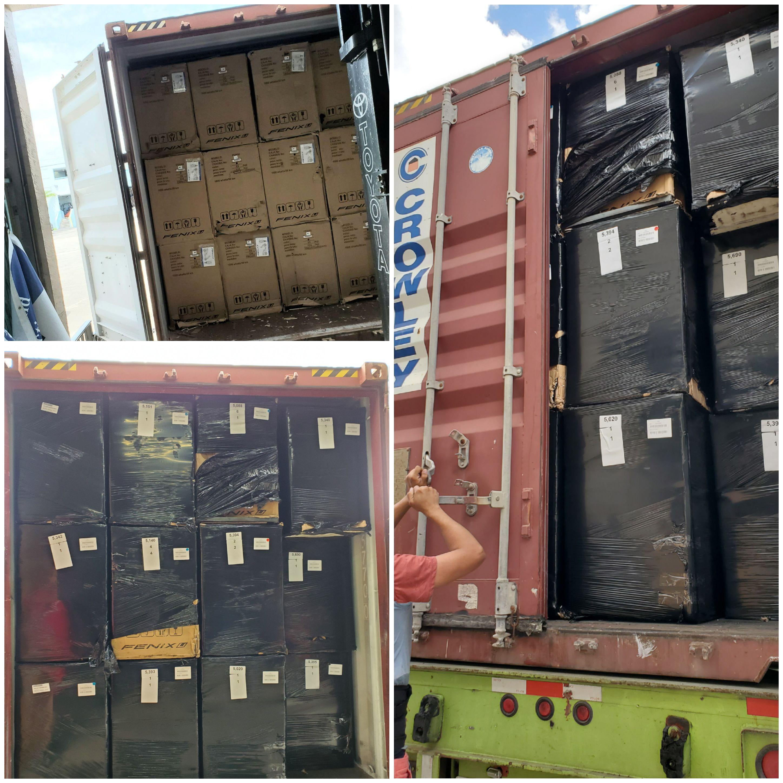 Envio de motos electricas a Cuba por barco