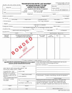 CBP Form 7512